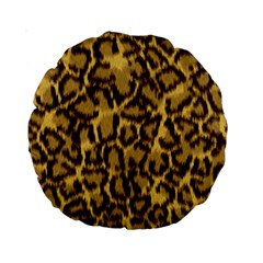 Seamless Animal Fur Pattern Standard 15  Premium Round Cushions