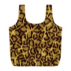Seamless Animal Fur Pattern Full Print Recycle Bags (l)