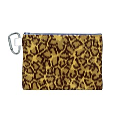 Seamless Animal Fur Pattern Canvas Cosmetic Bag (M)