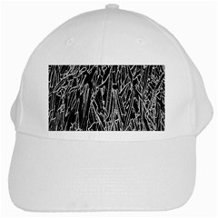 Gray Background Pattern White Cap