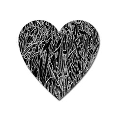 Gray Background Pattern Heart Magnet