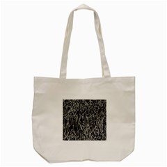 Gray Background Pattern Tote Bag (Cream)