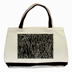 Gray Background Pattern Basic Tote Bag (Two Sides)