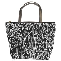 Gray Background Pattern Bucket Bags