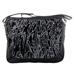 Gray Background Pattern Messenger Bags