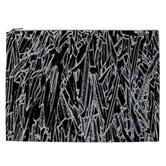 Gray Background Pattern Cosmetic Bag (XXL)