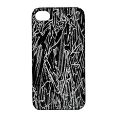 Gray Background Pattern Apple iPhone 4/4S Hardshell Case with Stand