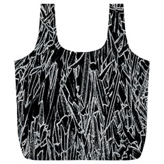 Gray Background Pattern Full Print Recycle Bags (L)