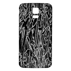 Gray Background Pattern Samsung Galaxy S5 Back Case (White)