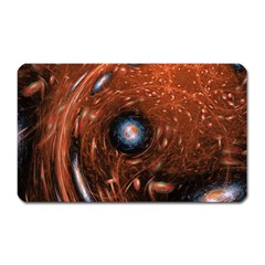 Fractal Peacock World Background Magnet (Rectangular)