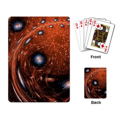 Fractal Peacock World Background Playing Card
