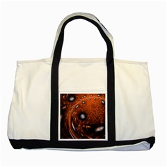 Fractal Peacock World Background Two Tone Tote Bag