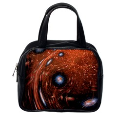 Fractal Peacock World Background Classic Handbags (one Side)