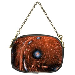 Fractal Peacock World Background Chain Purses (One Side)
