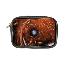 Fractal Peacock World Background Coin Purse