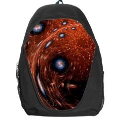 Fractal Peacock World Background Backpack Bag