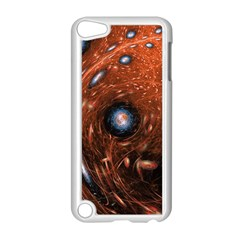 Fractal Peacock World Background Apple iPod Touch 5 Case (White)