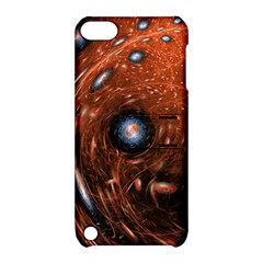 Fractal Peacock World Background Apple Ipod Touch 5 Hardshell Case With Stand