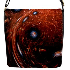Fractal Peacock World Background Flap Messenger Bag (s)