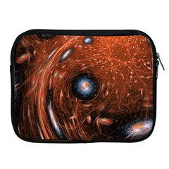 Fractal Peacock World Background Apple Ipad 2/3/4 Zipper Cases