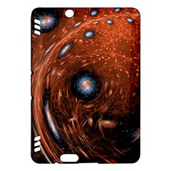 Fractal Peacock World Background Kindle Fire HDX Hardshell Case