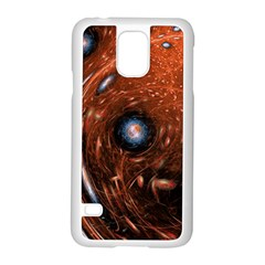 Fractal Peacock World Background Samsung Galaxy S5 Case (White)