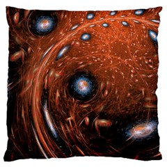Fractal Peacock World Background Standard Flano Cushion Case (Two Sides)