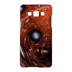 Fractal Peacock World Background Samsung Galaxy A5 Hardshell Case