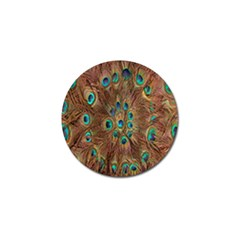 Peacock Pattern Background Golf Ball Marker