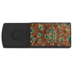 Peacock Pattern Background USB Flash Drive Rectangular (1 GB)