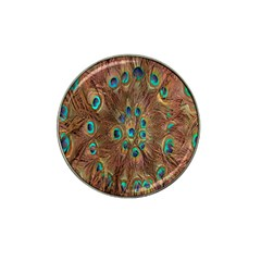 Peacock Pattern Background Hat Clip Ball Marker (4 Pack)