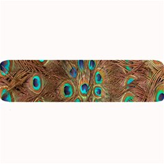 Peacock Pattern Background Large Bar Mats