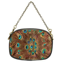 Peacock Pattern Background Chain Purses (two Sides)