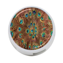 Peacock Pattern Background 4 Port Usb Hub (one Side)