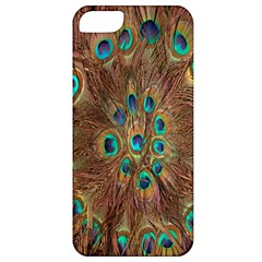Peacock Pattern Background Apple iPhone 5 Classic Hardshell Case