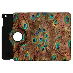 Peacock Pattern Background Apple iPad Mini Flip 360 Case