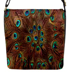 Peacock Pattern Background Flap Messenger Bag (S)