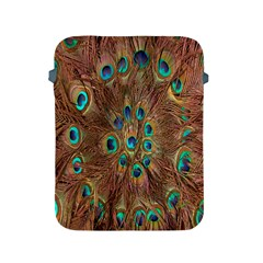 Peacock Pattern Background Apple iPad 2/3/4 Protective Soft Cases