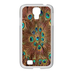 Peacock Pattern Background Samsung GALAXY S4 I9500/ I9505 Case (White)