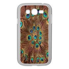 Peacock Pattern Background Samsung Galaxy Grand DUOS I9082 Case (White)