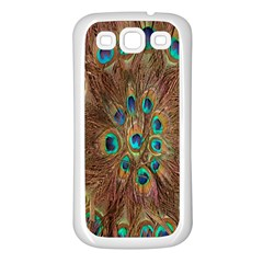 Peacock Pattern Background Samsung Galaxy S3 Back Case (White)