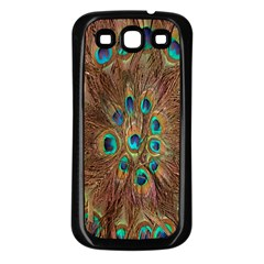 Peacock Pattern Background Samsung Galaxy S3 Back Case (Black)