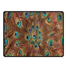Peacock Pattern Background Double Sided Fleece Blanket (Small)