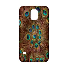 Peacock Pattern Background Samsung Galaxy S5 Hardshell Case