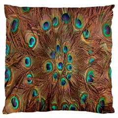 Peacock Pattern Background Standard Flano Cushion Case (one Side)