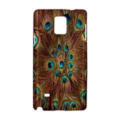 Peacock Pattern Background Samsung Galaxy Note 4 Hardshell Case