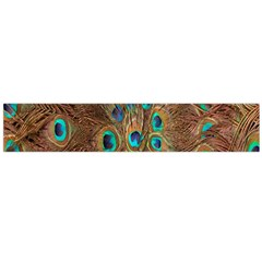 Peacock Pattern Background Flano Scarf (Large)