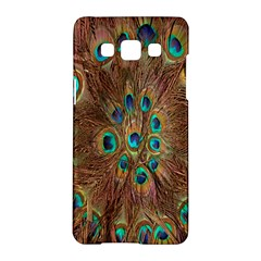 Peacock Pattern Background Samsung Galaxy A5 Hardshell Case