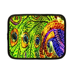 Glass Tile Peacock Feathers Netbook Case (Small)