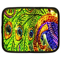 Glass Tile Peacock Feathers Netbook Case (xl)